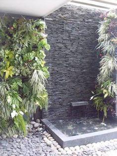 Resultado de imagen para muros forrados de cantera para exterior