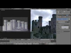 Creating a Castle in Blender Part 1 - YouTube