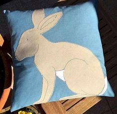"Rabbit Cushion 14""  x 14"""