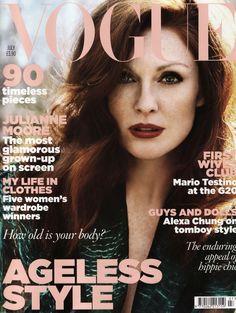 1ead4ba79f Vogue Subscription, Vogue Covers, Vogue Magazine Covers, Fashion Cover,  Julianne Moore,