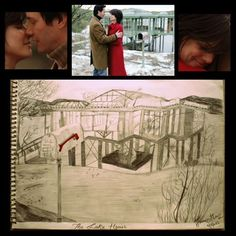The lake house; all time fav....such a beautiful movie ...enamored this much tht drawn a skecth....this lake house connects evrythng;u can see evrythng from this but cant touch it #beauty #seelove♡ #persuasion #sandra&keanu #chicago #thisneverhappenedb4 #LoVE