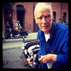 The ever loved Bill Cunningham doing what he does best.