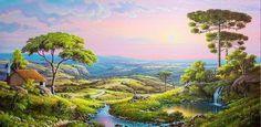 Cuadros Modernos Pinturas : Naturalismo en Los Paisajes Brasileños de Horst Schnepper