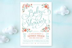 Vintage Garden Baby Shower Invitations by Lori Wemple at minted.com