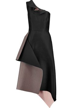 RoksandaWynford one-shoulder mesh-paneled crepe midi dressfront