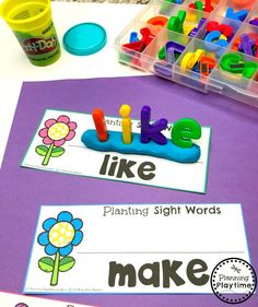 Looking for fun Sight Words Games for Kids? Play hands on sight words games. Use the interactive binders at home, school or on the go. Sight Words Games for Kindergarten - So Fun Sight Word Centers, Sight Word Activities, Preschool Learning Activities, Toddler Learning, Teaching Kids, Teaching Sight Words, Preschool Sight Words, Activities For 5 Year Olds, Learning Games For Kids