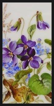 포셀린페인팅(포슬린페인팅) & 포셀린아트(포슬린아트) - Petra Kugelmeier 작가소개(Flower 2) : 네이버 블로그
