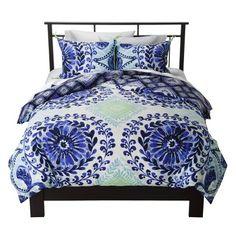 Haze Reversible Duvet Cover Set Blue - Boho Boutique™ : Target
