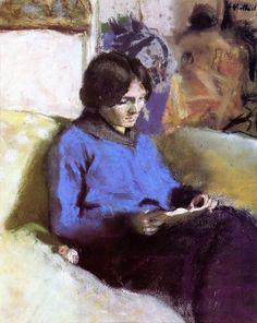 urgetocreate:Edouard Vuillard, The Reader, ca.1914-15
