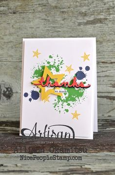 We love this brightly colored thank you card made with the Gorgeous Grunge stamp set.