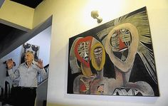 Cecil Skotnes on the wall in the home of Harry Lits, Johannesburg (Image by: LUNGELO MBULWANA)