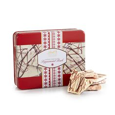 Lindt Peppermint Bark Tin: New from Lindt! Peppermint bark bits are combined with our creamy white chocolate over a layer of smooth dark chocolate and finished with an extra drizzle of dark chocolate. The ultimate delight packaged in a giftable tin. Lindt Chocolate, Chocolate Gift Boxes, White Chocolate, Holiday Gifts, Christmas Gifts, Peppermint Bark, Creamy White, Merry And Bright, Wedding Gifts