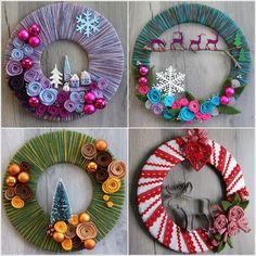 DIY New Year Door Decoration - Christmas Decoration - Creative Ideas, Felt Crafts Diy, Cardboard Crafts, Wreath Crafts, Diy Wreath, Decor Crafts, Crafts For Kids, Paper Crafts, Christmas Door Decorations, Christmas Wreaths
