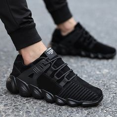 New running shoes men's sports shoes senior suede Comfortable non-slip outdoor male sneaker trainer shoes black gray yellow Tenis Casual, Casual Sneakers, Casual Shoes, Winter Sneakers, Casual Wear, Black Shoes, Men's Shoes, Shoes Sneakers, Male Shoes