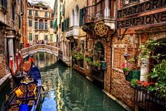 Canal en Venecia, Italia ♥♥