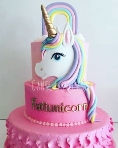 Mini cakes goat-zucchini and ricotta-spinach - Clean Eating Snacks Unicorne Cake, Eat Cake, Cupcake Cakes, Birthday Cake Girls, Unicorn Birthday Parties, Bolo Barbie, Pony Cake, Pinterest Cake, Just Cakes