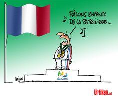 Natation, cyclisme, athlétisme… les français affichent partout leur mauvaise humeur. - Dessin du jour - Urtikan.net