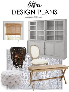Home Office Ideas on A Budget + Design Plans - workoffice Home Office Space, Home Office Design, Home Office Decor, Diy Home Decor, Office Ideas, House Design, Office Spaces, Feng Shui, Hobby Lobby
