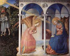 Fra Angelico, Annonciation, 1426, Madrid, Musée du Prado