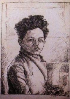Alberto Giacometti (1901-1966) was een Zwitserse beeldhouwer en schilder. Beïnvloed door zowel de Afrikaanse kunst als het surrealisme, besloot hij af te zien van beeldhouwen naar model en de werkelijkheid los te laten.  -Na terugkeer in Parijs voegde Annette zich bij hem. Giacometti huwde haar in 1949. Nu brak Giacometti's meest productieve periode aan met zijn vrouw als muze en voornaamste model. -  (1917)