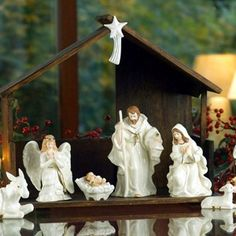 Keeping a Nativity on display over the Christmas holidays is a great way to remind us all of the true meaning of Christmas. Nativity scenes can start out small, and become treasured family heirlooms.