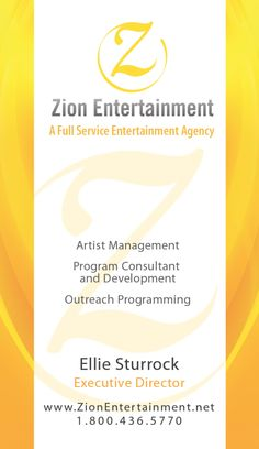 sample business card Sample Business Cards, Artist Management