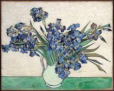 Vincent Van Gogh (1853-1890). Iris dans un vase blanc (1890)