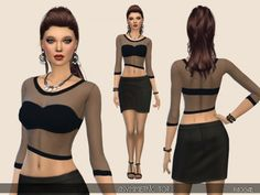 The Sims Resource: Asymmetic Top by Paogae • Sims 4 Downloads