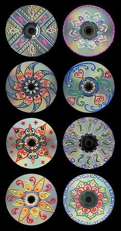 upcycled CDs