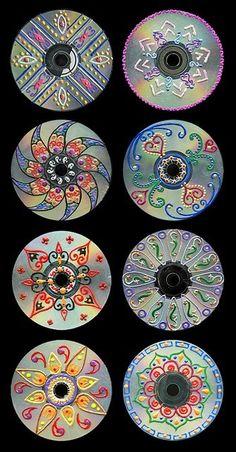 cd art for kids / cd art ` cd art projects ` cd art diy ` cd art aesthetic ` cd art for kids ` cd art painting ` cd artwork cd art ` cd art projects old cds Recycled Cds, Recycled Art Projects, Recycled Crafts, Craft Projects, Teen Art Projects, Crafts With Cds, Old Cd Crafts, Unique Art Projects, Recycled Decor