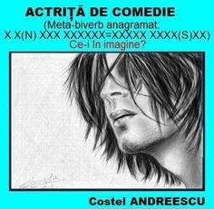 PĂTRĂŢICĂ-blog-Petrică-Aidimireanu: ACTRIŢĂ DE COMEDIE - Enigmă de Costel ANDREESCU