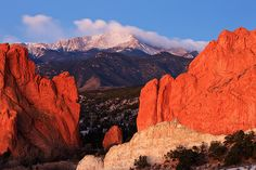 Colorado In Spanish Means Color Red - Garden Of Gods. I love this place. :)