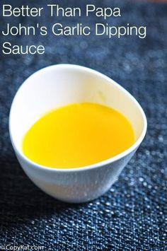Than Papa John's Garlic Dipping Sauce Make your own Papa John's Garlic Dipping sauce at home. Recipe from Make your own Papa John's Garlic Dipping sauce at home. Recipe from Pizza Recipes, Sauce Recipes, Cooking Recipes, Fastfood Recipes, Chicken Recipes, Recipe Chicken, Cooking Tips, Chutney, Garlic Dipping Sauces