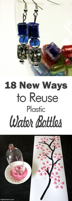 How to Reuse Plastic Water Bottles, Plastic Water Bottle Crafts, Things to Do With Water Bottles, Crafts for Kids, Craft Ideas for Kids, Kid Crafts, Easy Craft Ideas, How to Repurpose Water Bottles, DIY, Easy DIY Ideas.