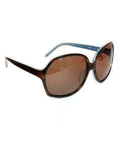 Love!  FENDI Brown & Blue Butterfly Sunglasses by FENDI on #zulily today!