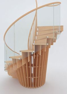 You'll flip when you realise how this is even structurally possible! Black carbon stairs | Architecture at Stylepark