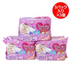 Official mail order site - wipes nine Pack Set Sanrio online shop of Hello Kitty skin moisture