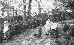 The Ardennes 1944 - Religious service for troopers of the 3d Bn, 508th – Bulge, 6 January 1945