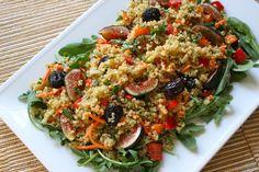 Quinoa, Sweet Peppers, Arugula & Fig Salad | Vegenista