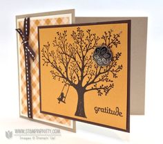 Stampin up stampinup stampin it fall autumn card ideas heat emboss catalogs demonstrator