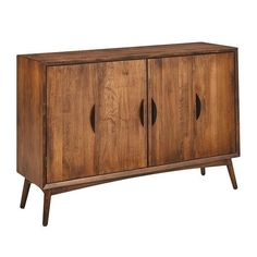 Amish Copenhagen Buffet Cabinet Mid century modern style for your dining room furniture collection. Handcrafted in the wood and stain you select. #buffet #midcenturymodernfurniture
