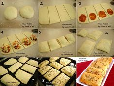 Pizza Pockets Step by Step - Fauzia's Kitchen Fun Homemade Pizza Pockets, Easy Homemade Pizza, Dinners For Kids, Kids Meals, Healthy Dinner Recipes, Cooking Recipes, Pizza Recipes, Easy Pizza Dough, Healthy Pizza