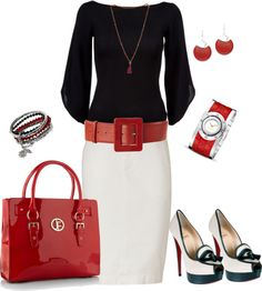 """First Day of School (Teacher) Outfit"" by latausha-lee on Polyvore"