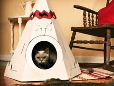 If I ever get a Cat, I am so buying this: Cat Teepee by Loyal Luxe – $25