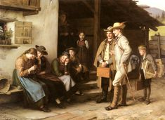 Franz Von Defregger, The First Study Trip