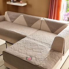 Sofa seat covers in 2018 market for a refreshment look Diy Sofa Cover, Couch Covers, Seat Covers, Comfy Sofa, Comfortable Sofa, Furniture Covers, Sofa Furniture, Colorful Couch, Living Spaces Furniture