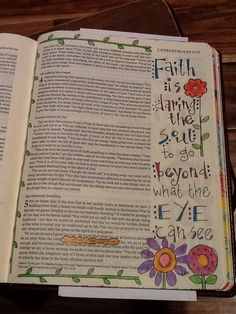 For we walk by faith, not by sight. 2 Cor. 5:7.  Sherrie Bronniman - Art Journaling: In My Bible