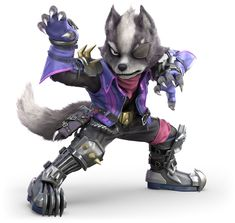 View an image titled 'Wolf Art' in our Super Smash Bros. Ultimate art gallery featuring official character designs, concept art, and promo pictures. Super Smash Bros, Nagano, Fox Character, Character Design, Star Fox Video Game, Super Smash Ultimate, Fox Mccloud, Pokemon, Nes Classic