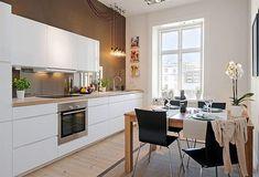 Cocinas blancas | Decoración Diy Kitchen, Kitchen Dining, Sweet Home, Scandinavian Kitchen, Kitchen Cabinet Design, Cool Kitchens, Home Interior Design, Decoration, Nook