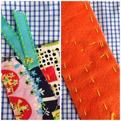 698fba4965 These simple bookmarks are quick to stitch up and use up all those cute  scraps you have laying around.